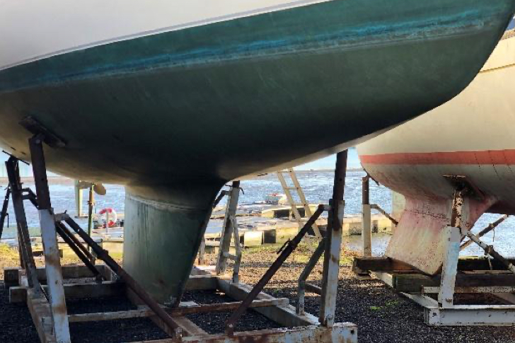 The hull of the boat 'Poppy of Orwell'